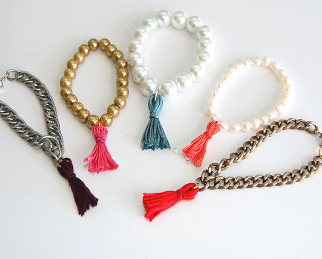 Pearl beads and tassels