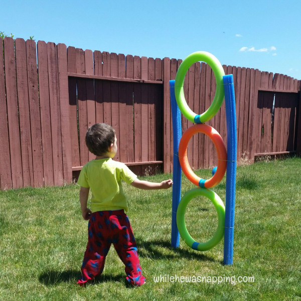 Pool noodle diy toss game