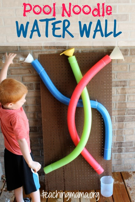 Pool noodle water wall 2