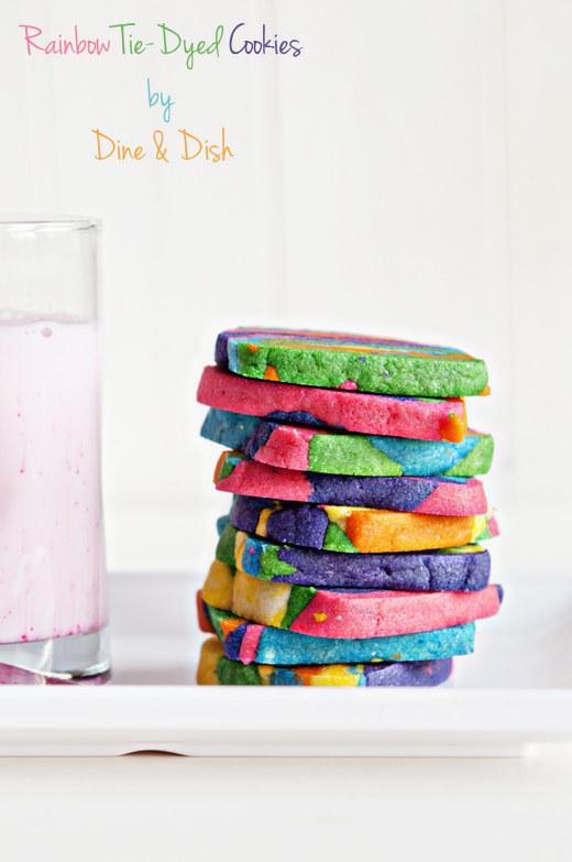 Rainbow tie dye cookies