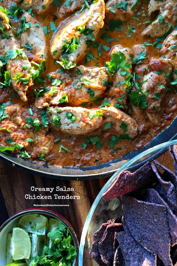 Salsa chicken tenders recipe