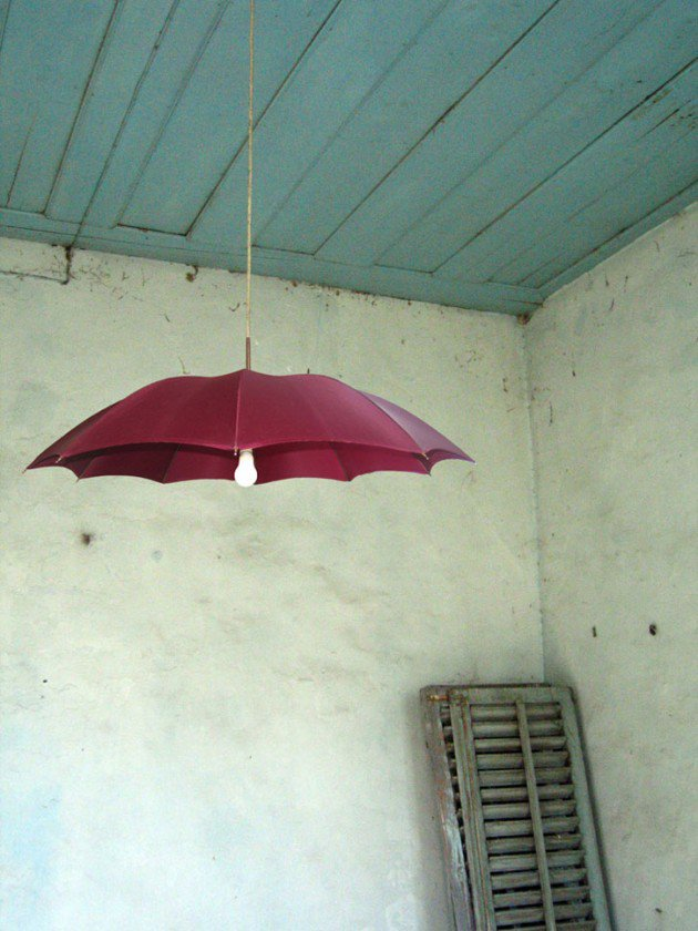 Single bulb umbrella lamp