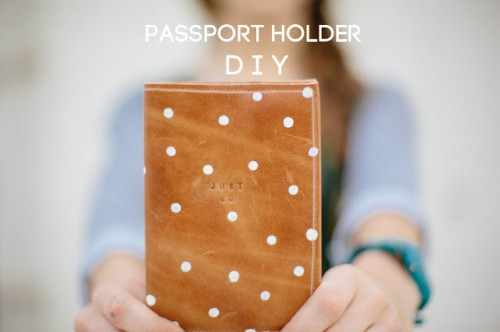 Stamped leather with polka dots