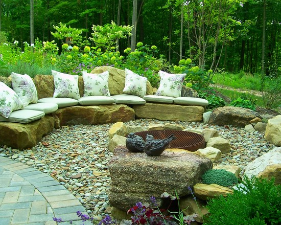 Especially If You Have Plans To Build A Fire Pit In Your Yard For Summer  Nights, Then Stone Seating Is Pretty And Practical! Large, Flat Stone Slabs  Make ...