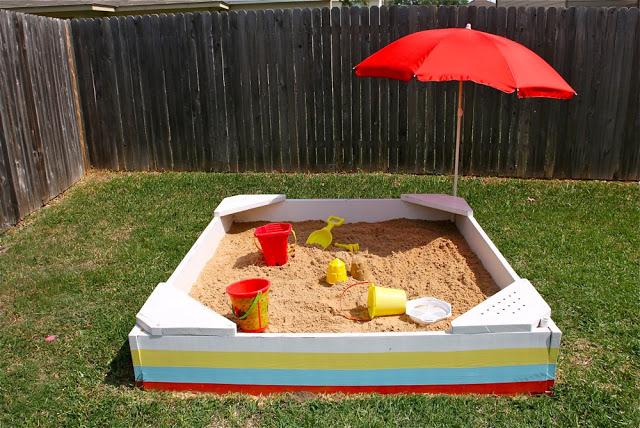 Striped sandbox