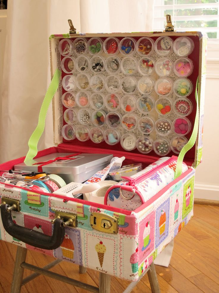 Suitcase craft storage