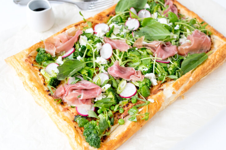 Summer Vegetable Tart with Prosciutto - a vibrant and light summer dinner.
