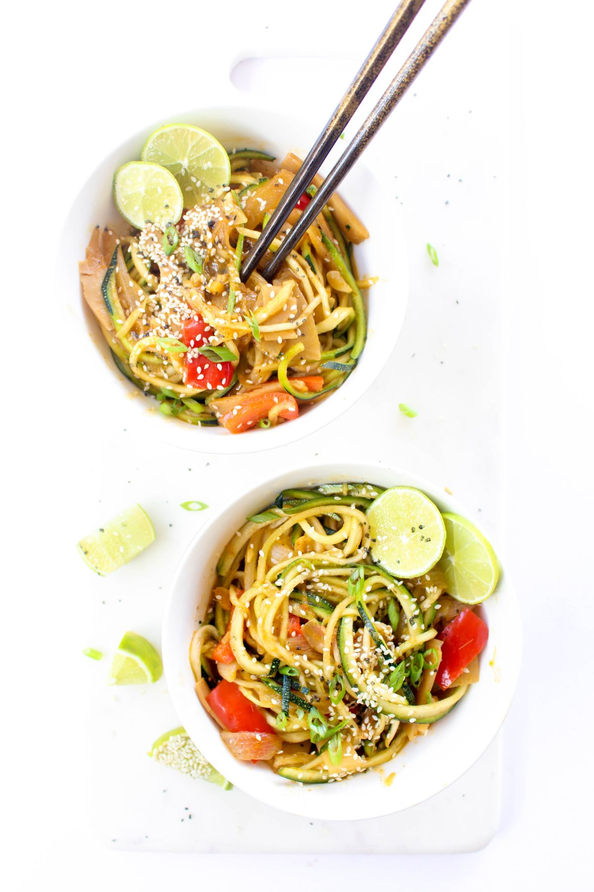 Thai red curry zoodles recipe