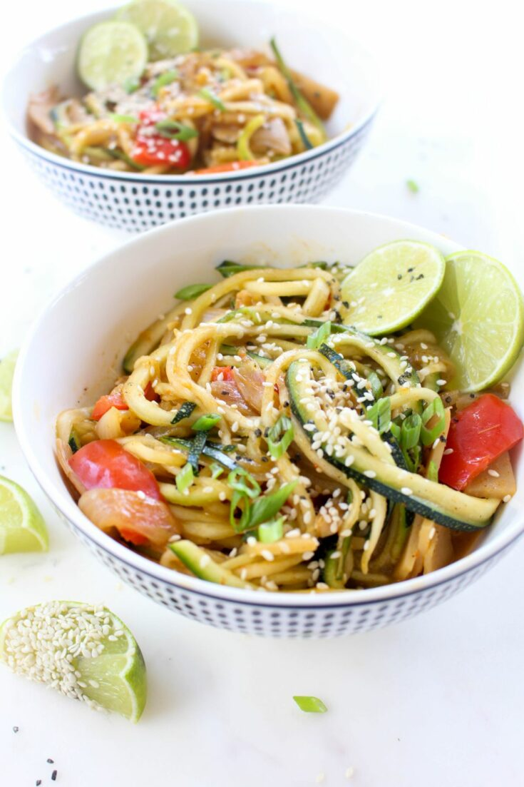 Thai red curry zoodles bowls