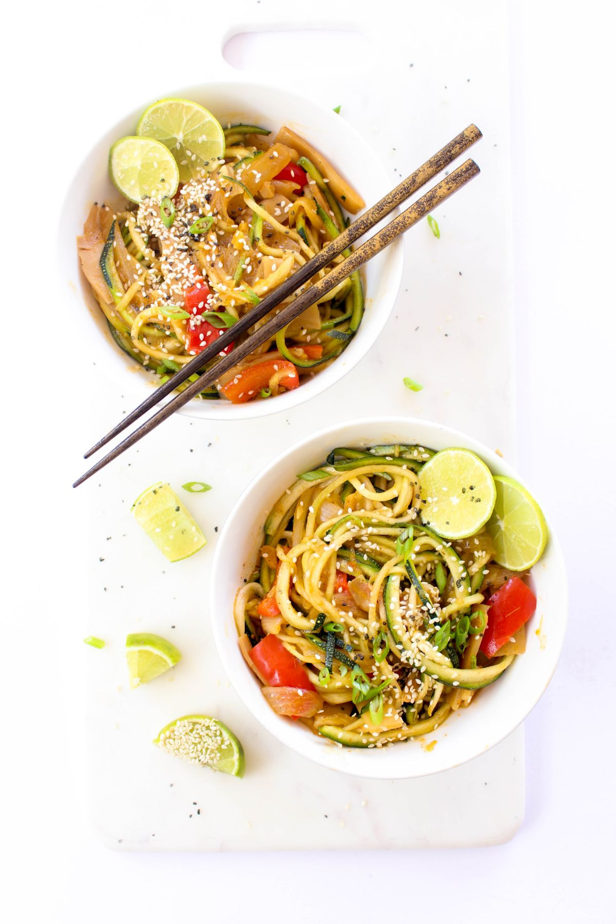 Thai red curry zoodles