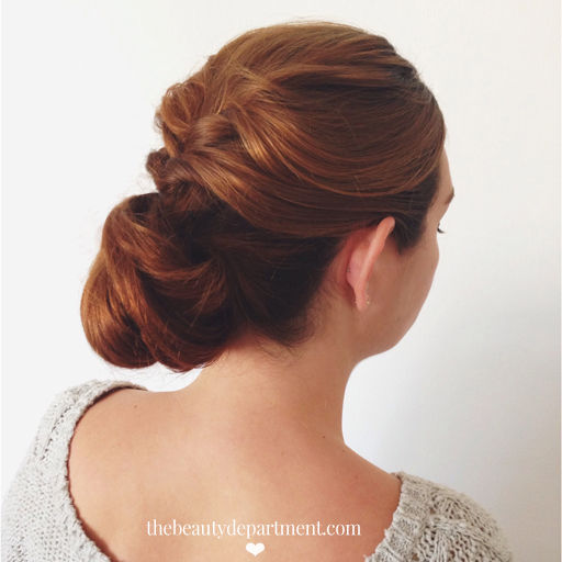 Twisted low bun diy