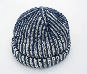 Two colour brioche hat