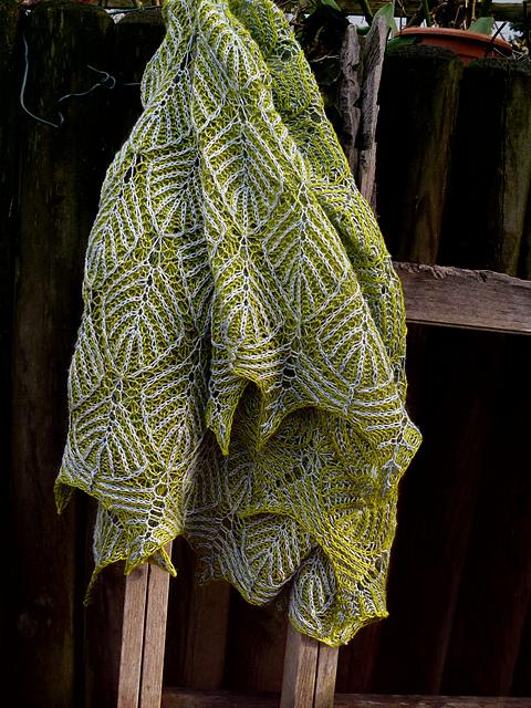 Under dutch skies brioche shawl
