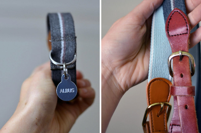 Upcycled belt collar