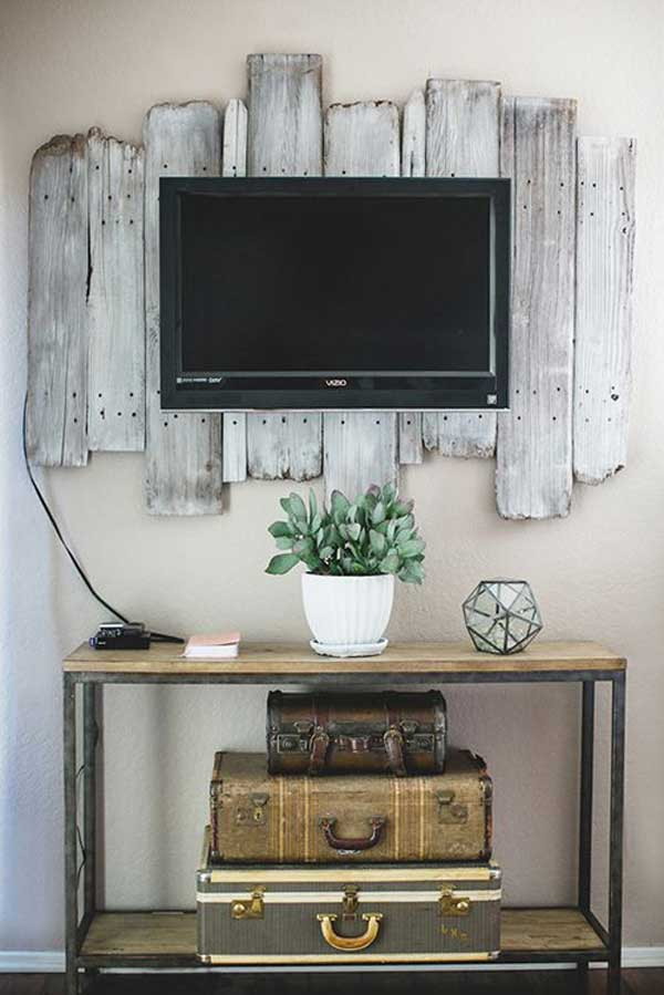 Vintage tv stand decor