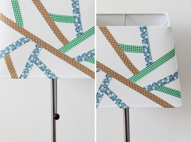 Washi tape lampshade diy