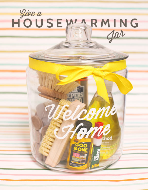 Welcome home housewarming jar diy