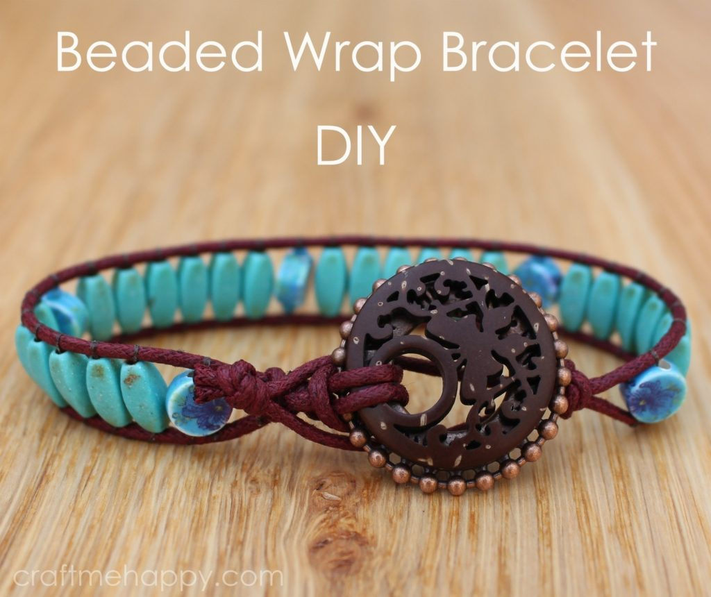 Wrap bracelet with statement bead