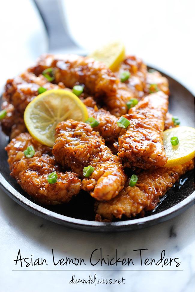 Asian lemon chicken tenders recipe