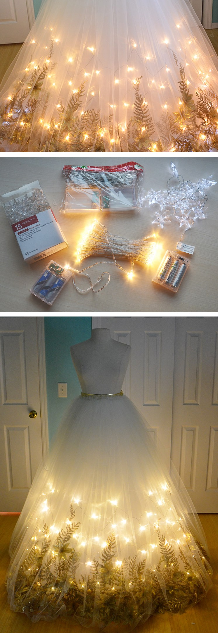 Diy lightup wedding skirt