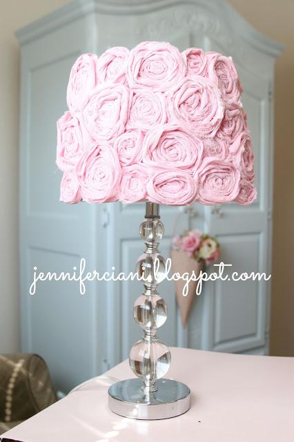 Diy pink rosette lampshade