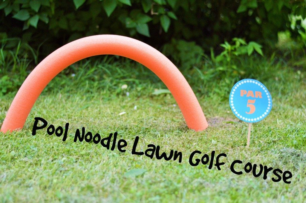 Diy summer pool noodle lawn golf tutorial