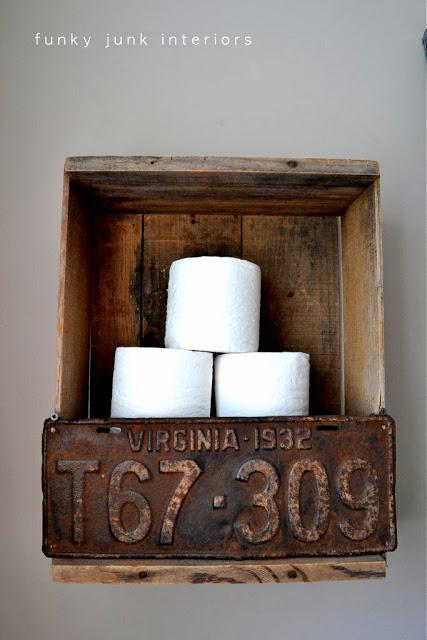 Diy toilet paper crate