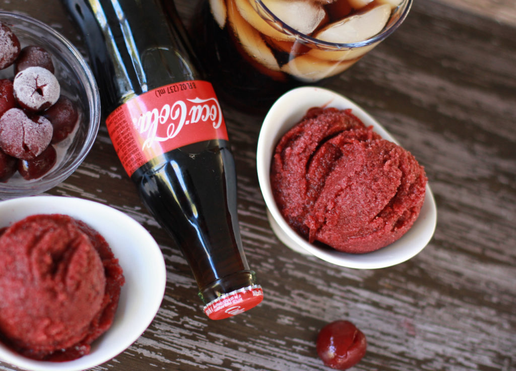 Easy coca cola cherry sorbet recipe