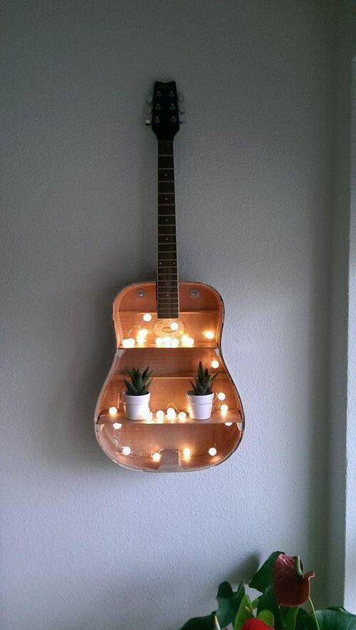 Guitar light shelf diy