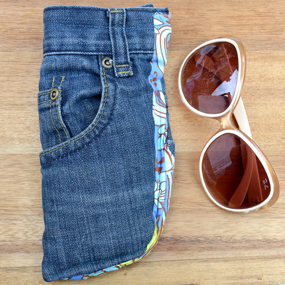 Jean sunglasses case