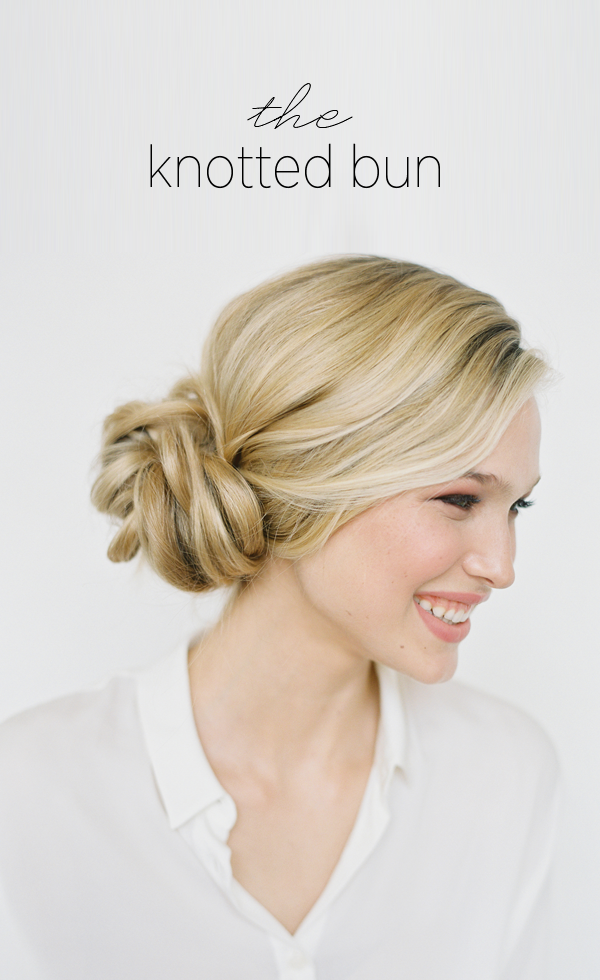 Knotted bun wedding hairstyles for long hair