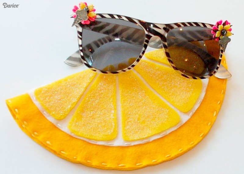 Lemon sunglasses case
