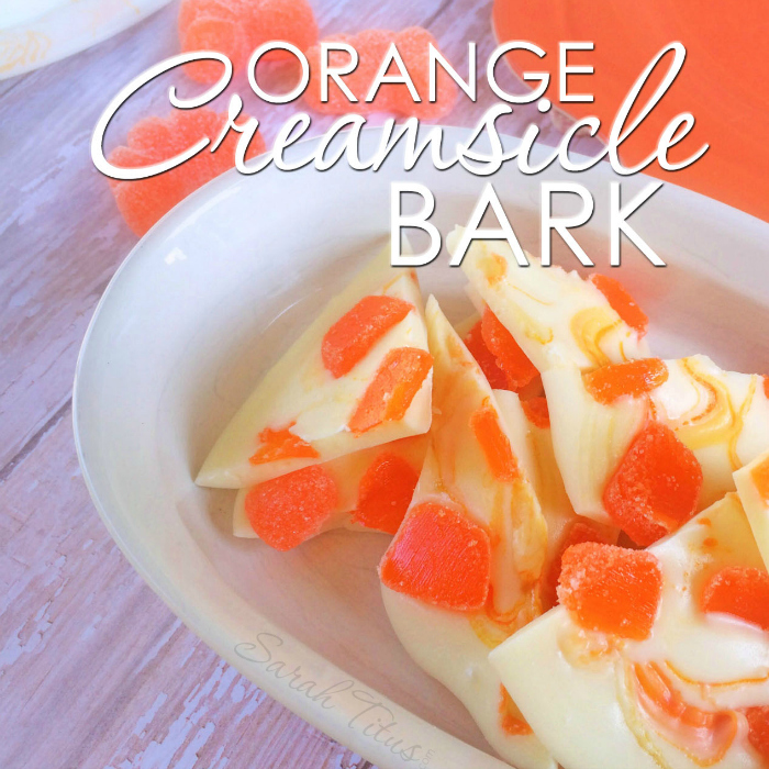 Orange creamsicle bark