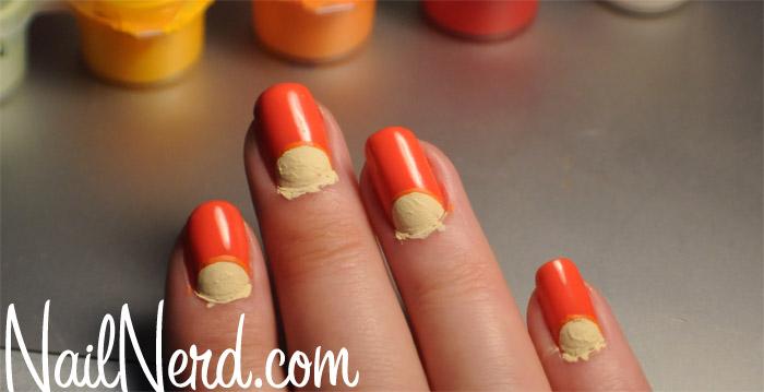 Orange wedge nails