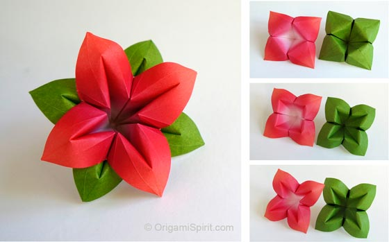 Decorate your home with these beautiful origami flowers origami flower and leaves mightylinksfo