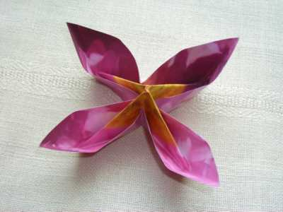 Decorate your home with these beautiful origami flowers pink four petal flower mightylinksfo