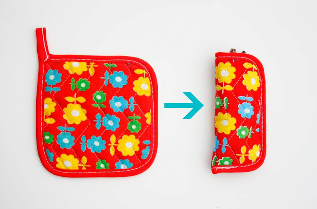 Potholder sunglasses case