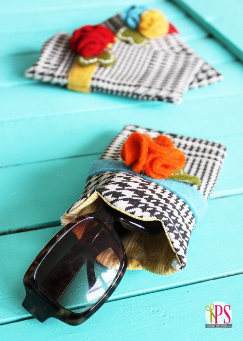 Scalloped sunglasses case 1