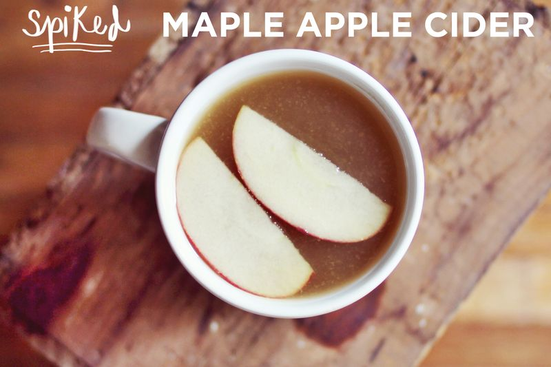 Spiked maple apple cider recipe