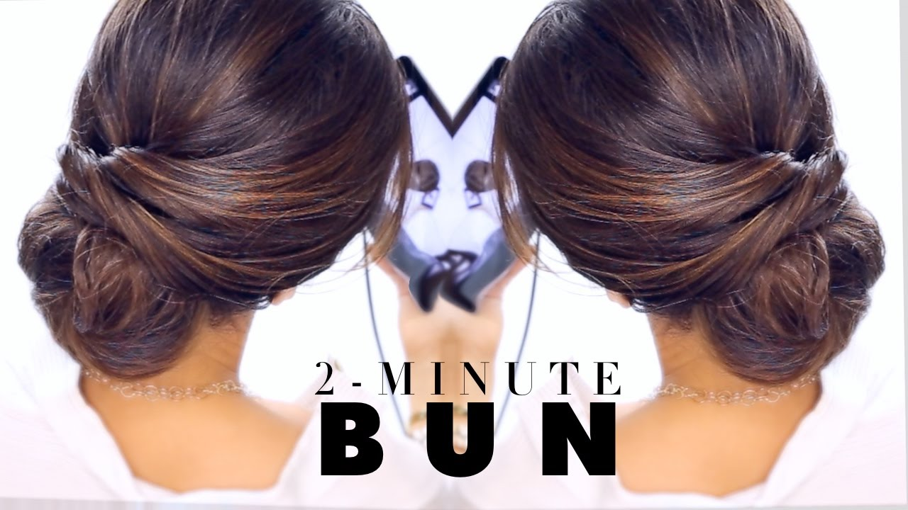 Two minute low bun diy