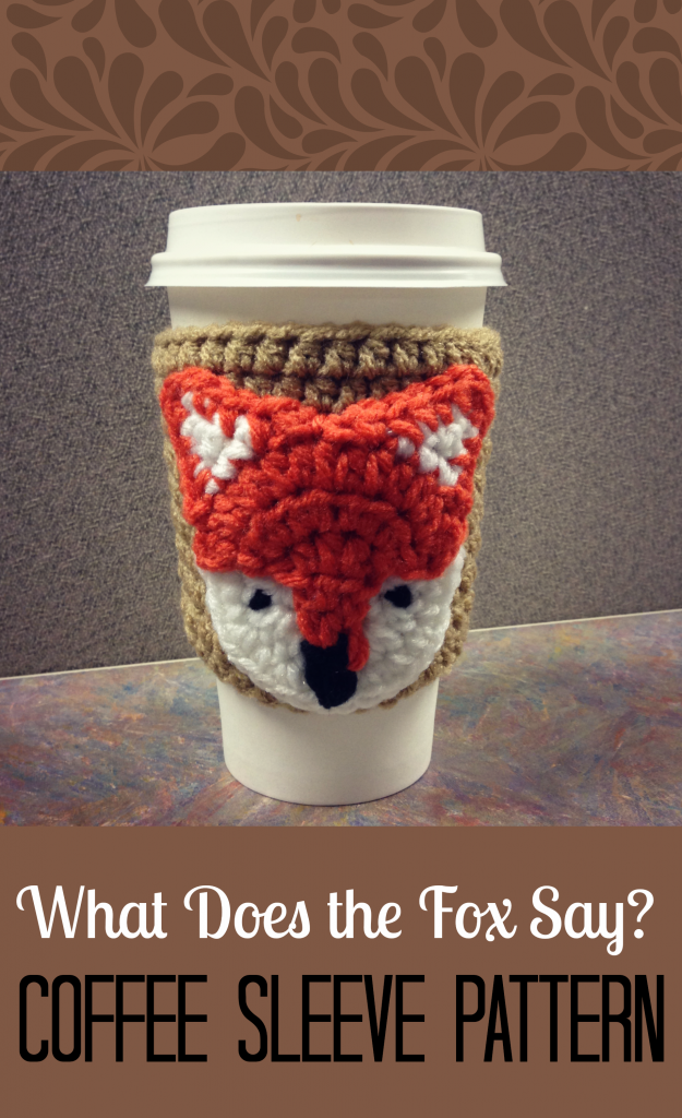 What doe the fox say coffee sleeve pattern 625x1024