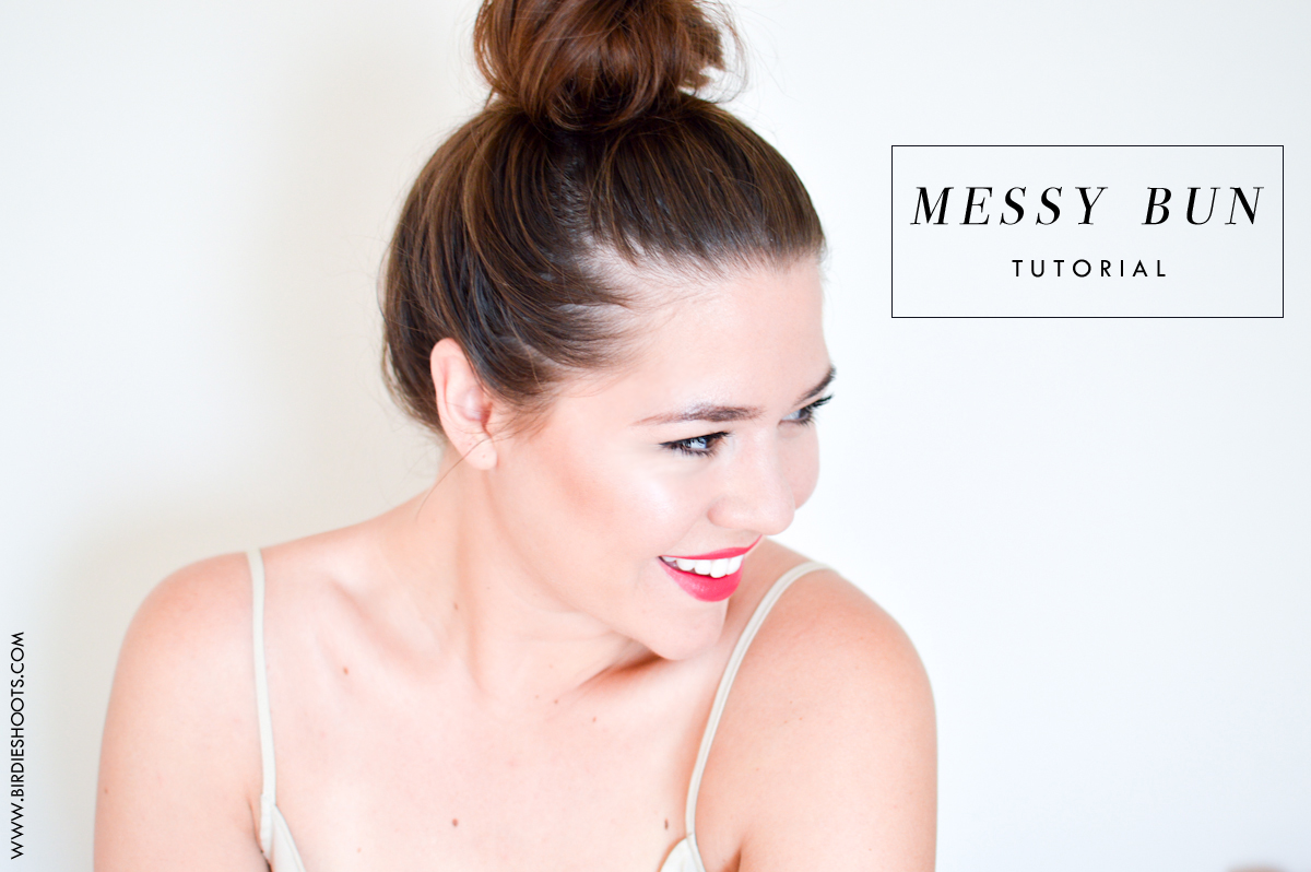 13 messy bun tutorial
