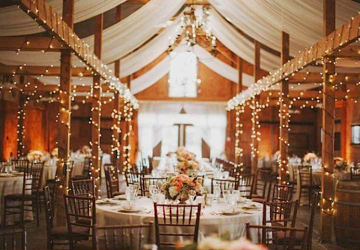 14 rustic wedding ceiling fabric
