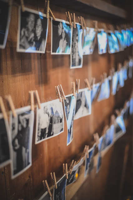 rustic photo wall