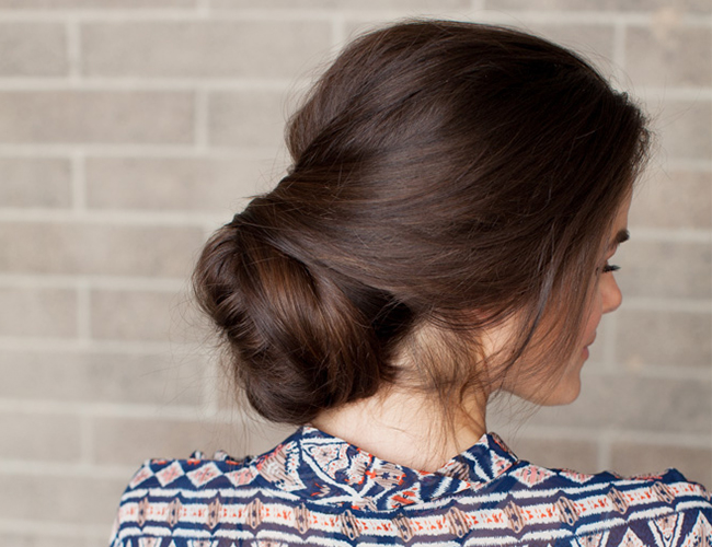 16 sock bun twist hairstyle long hair