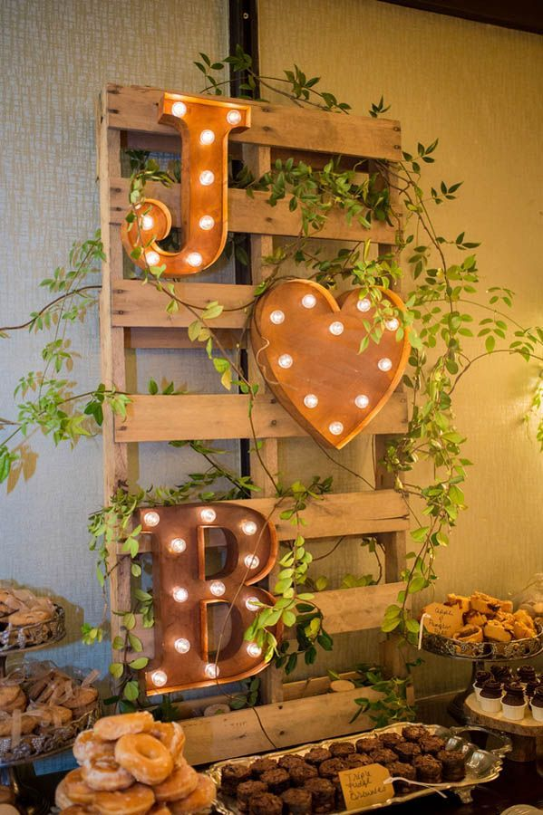 50 beautiful rustic wedding ideas 18 marquee lights monogram junglespirit Choice Image