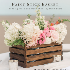2 paint stick basket rustic box