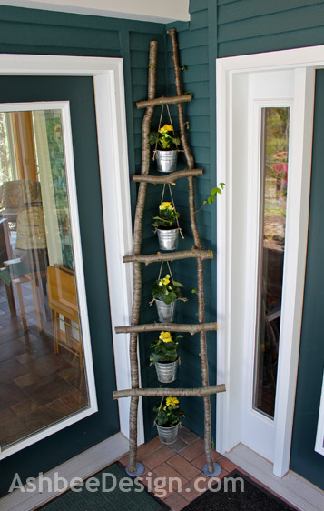 20 diy tree branch ladder