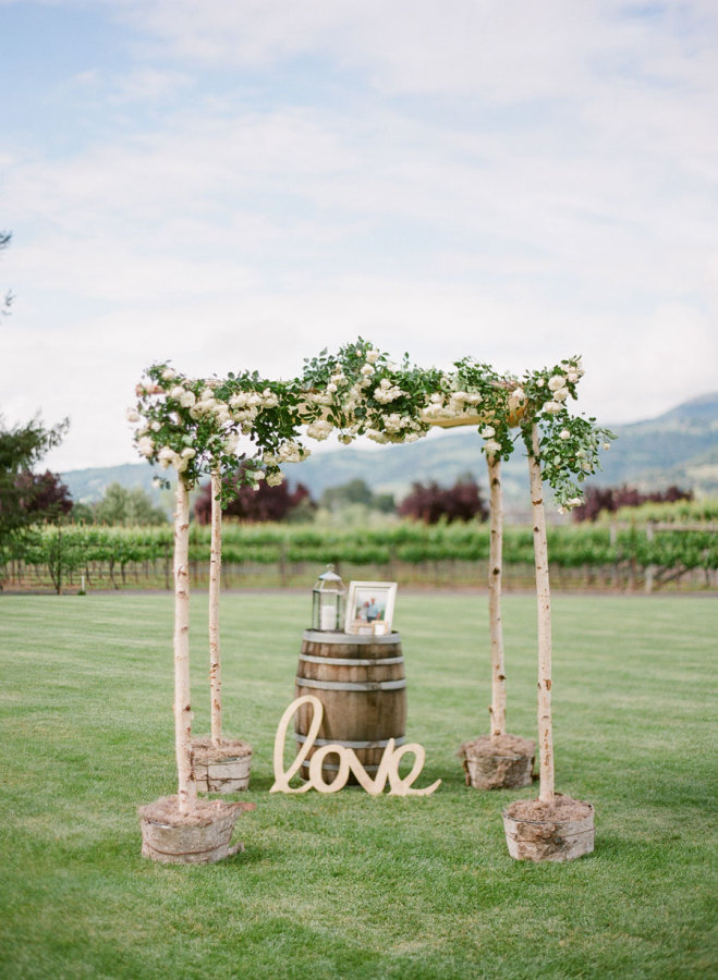 21 Rustic Wedding Arch