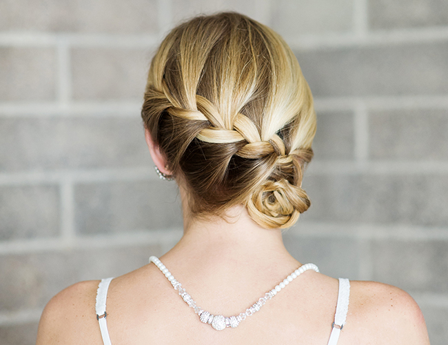 22 braided side bun